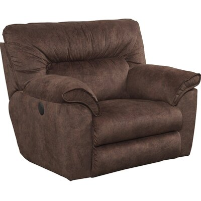 Nichols Recliner Body Fabric: Chestnut, Reclining Type: Power