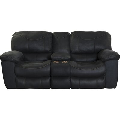 Terrance Reclining Loveseat Body Fabric: Black, Reclining Type: Manual