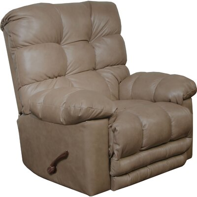 Piazza Rocker Recliner Body Fabric: Smoke, Reclining Type: Power