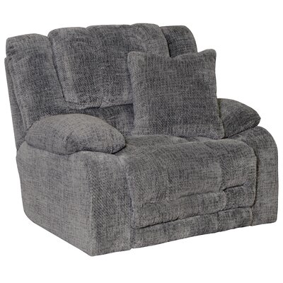Branson Recliner Body Fabric: Pewter, Reclining Type: Power