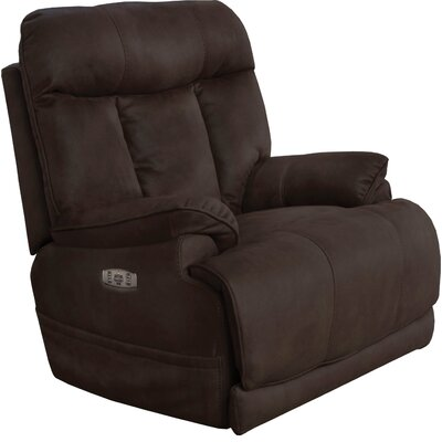 Amos No Motion Power Recliner Body Fabric: Dark, Lumbar Support: Yes