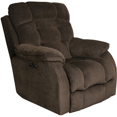 Crowley No Motion Power Recliner Body Fabric: Espresso, Lumbar Support: Yes