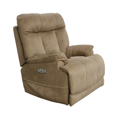 Amos No Motion Power Recliner Body Fabric: Camel, Lumbar Support: No