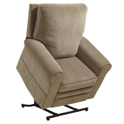 Edwards No Motion Power Recliner Body Fabric: Mushroom