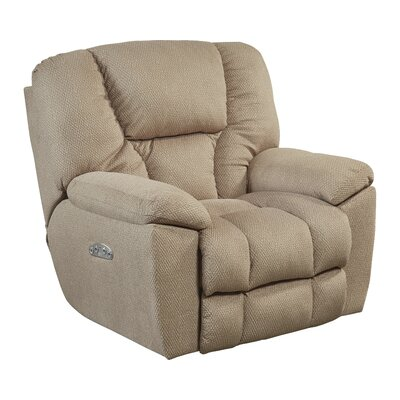 Owens No Motion Power Recliner Body Fabric: Doe, Lumbar Support: Yes