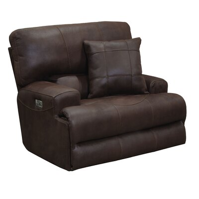 Monaco No Motion Recliner Body Fabric: Dark Chocolate, Reclining Type: Power, Lumbar Support: No