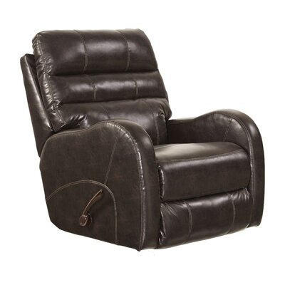 Searcy No Motion Recliner Body Fabric: Coffee, Reclining Type: Power