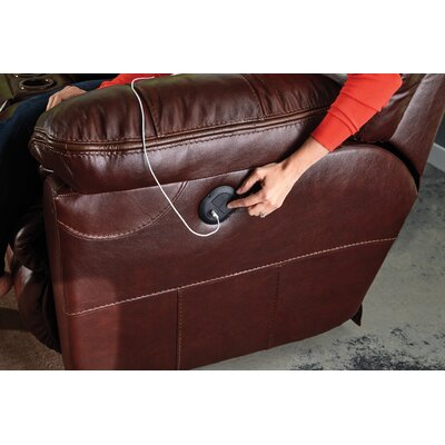 Milan No Motion Recliner Body Fabric: Walnut, Reclining Type: Manual