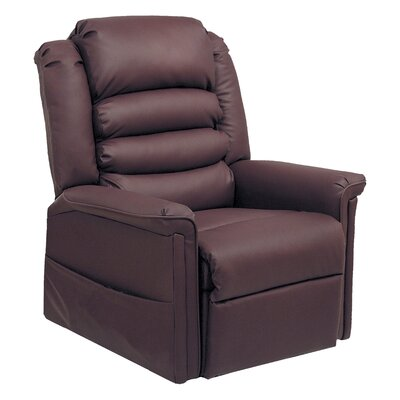 Invincible No Motion Power Recliner Body Fabric: Cabernet