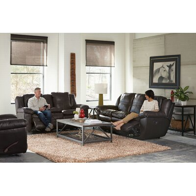 Aria Reclining Loveseat Body Fabric: Chocolate, Reclining Type: Manual