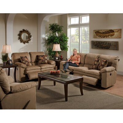 Impulse Reclining Loveseat Body Fabric: Caf�/Espresso, Reclining Type: Manual