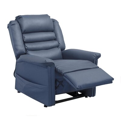 Invincible No Motion Power Recliner Body Fabric: Deep Sapphire