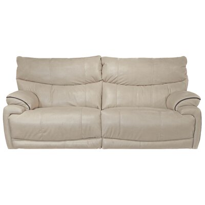Larkin Reclining Sofa Body Fabric: Buff, Reclining Type: Power