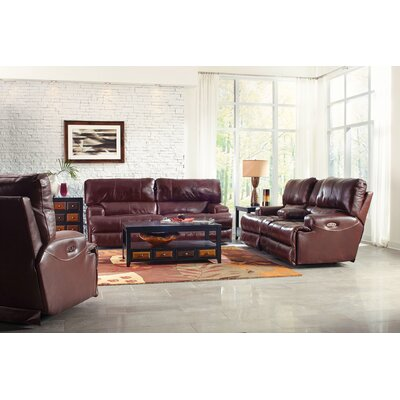 Wembley No Motion Recliner Body Fabric: Walnut, Reclining Type: Power, Lumbar Support: Yes