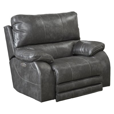 Sheridan No Motion Power Recliner Body Fabric: Steel, Lumbar Support: No
