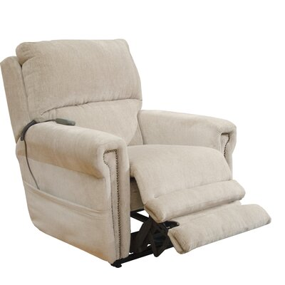 Warner Power Recliner Body Fabric: Putty, Lumbar Support: No