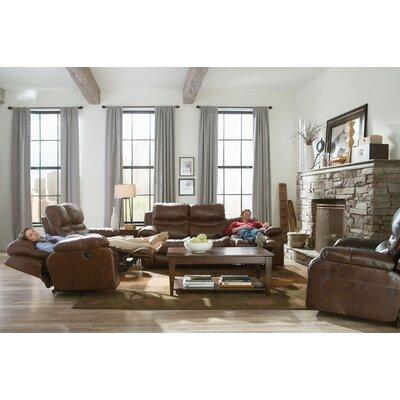 Patton Reclining Sofa Body Fabric: Chestnut, Reclining Type: Manual
