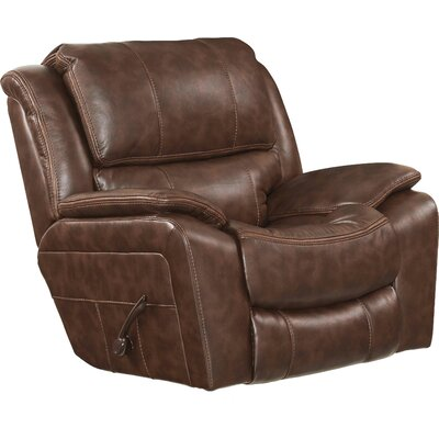 Beckett No Motion Recliner Body Fabric: Java, Reclining Type: Manual