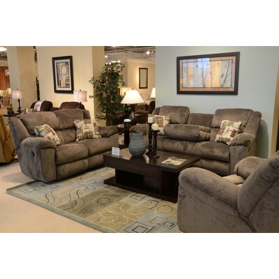 Transformer Reclining Loveseat Body Fabric: Seal/Pewter