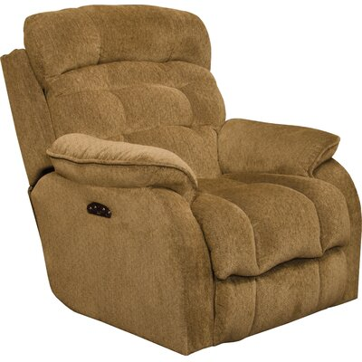 Crowley No Motion Power Recliner Body Fabric: Bronze, Lumbar Support: Yes
