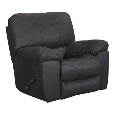 Terrance Rocker Recliner Body Fabric: Black, Reclining Type: Manual