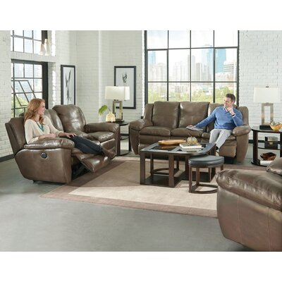 Aria Reclining Loveseat Body Fabric: Smoke, Reclining Type: Manual