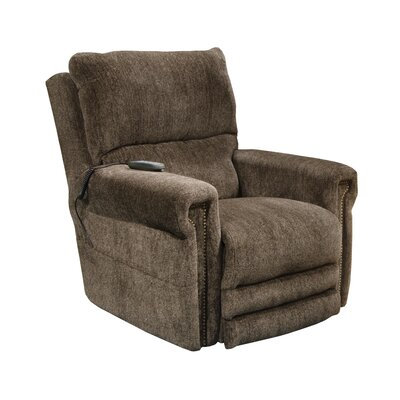 Warner No Motion Power Recliner Body Fabric: Tigers Eye, Lumbar Support: No