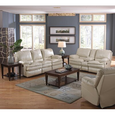 Perez Reclining Console Loveseat Body Fabric: Ice, Reclining Type: Power