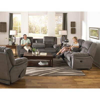 Joyner Reclining Sofa Body Fabric: Slate, Reclining Type: Power