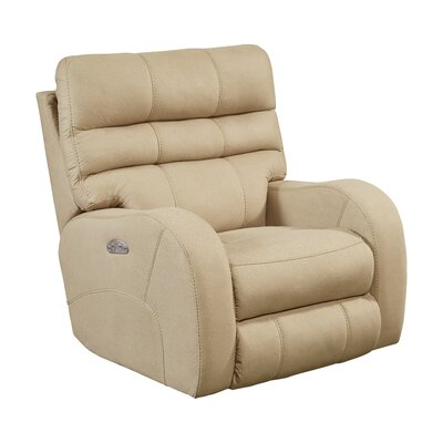 Kelsey No Motion Power Recliner Body Fabric: Doe, Lumbar Support: No