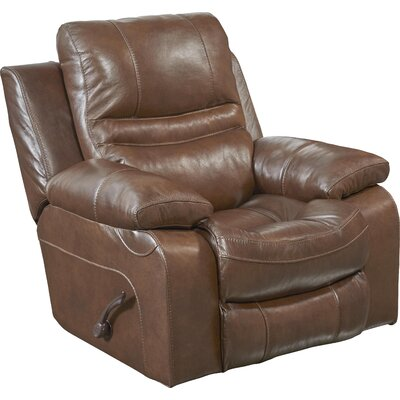 Patton No Motion Recliner Body Fabric: Chestnut, Reclining Type: Power