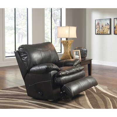 Perez No Motion Recliner Body Fabric: Steel, Reclining Type: Power