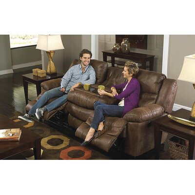 Valiant Reclining Sofa with Drop Down Table Body Fabric: Elk, Reclining Type: Power