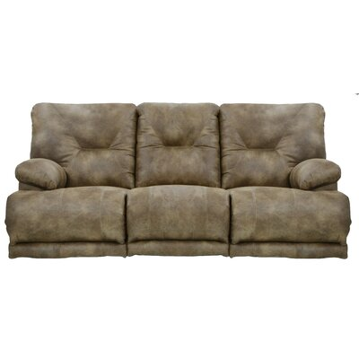 Voyager Reclining Sofa Body Fabric: Brandy, Reclining Type: Power, Drop Down Table: Yes