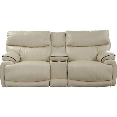 Larkin Reclining Loveseat Body Fabric: Coffee, Reclining Type: Power