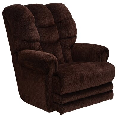 Malone No Motion Recliner Body Fabric: Vino, Reclining Type: Power