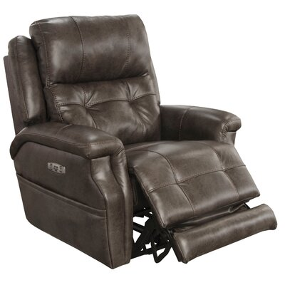 Kepley No Motion Power Recliner Body Fabric: Dusk, Lumbar Support: Yes