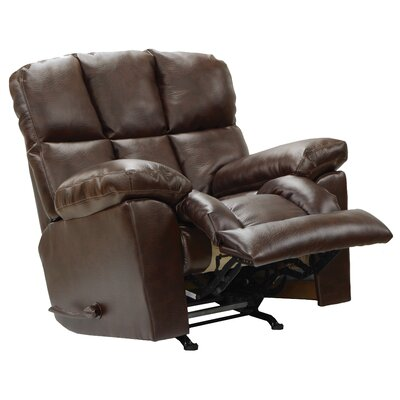 Griffey Rocker Recliner Body Fabric: Java, Reclining Type: Manual