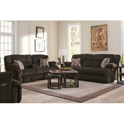 Brice Reclining Sofa Body Fabric: Chocolate/Truffle, Lumbar Support: Yes