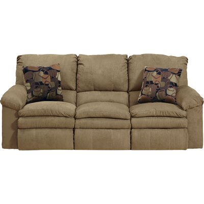 Impulse Reclining Sofa Body Fabric: Caf�/Espresso, Reclining Type: Power