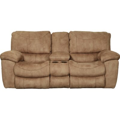 Terrance Reclining Loveseat Body Fabric: Caramel, Reclining Type: Power