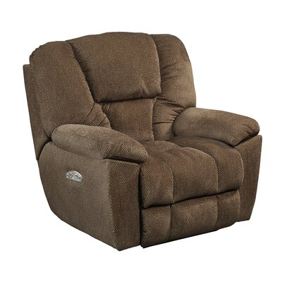 Owens No Motion Power Recliner Body Fabric: Hickory, Lumbar Support: Yes