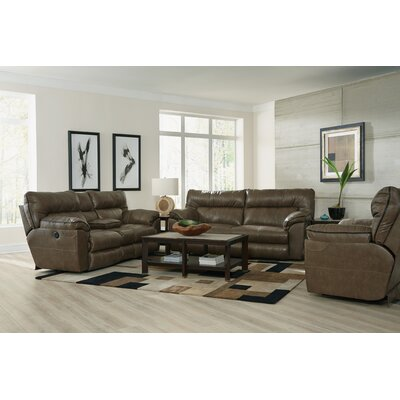 Milan No Motion Recliner Body Fabric: Smoke, Reclining Type: Power