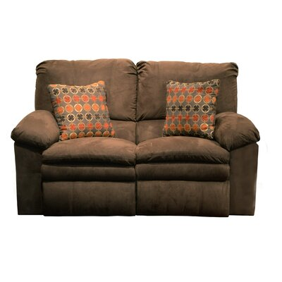 Impulse Reclining Loveseat Body Fabric: Godiva/Spice, Reclining Type: Power