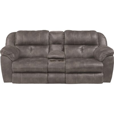 Ferrington Reclining Loveseat Body Fabric: Dusk, Lumbar Support: No