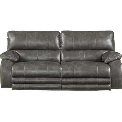Sheridan Reclining Sofa Body Fabric: Steel, Lumbar Support: Yes