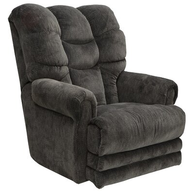 Malone No Motion Recliner Body Fabric: Slate, Reclining Type: Power