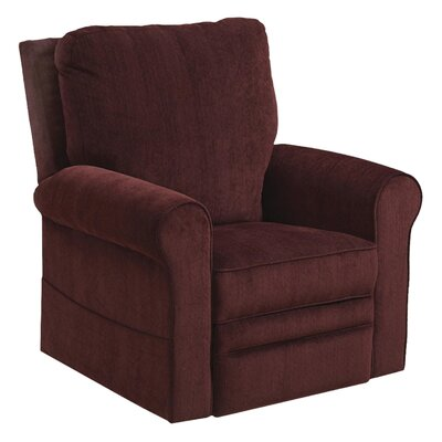 Edwards No Motion Power Recliner Body Fabric: Plum