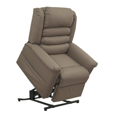 Invincible No Motion Power Recliner Body Fabric: Cocoa