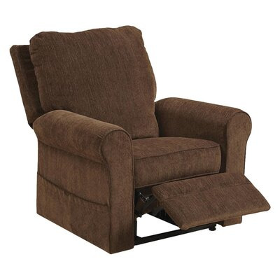 Edwards No Motion Power Recliner Body Fabric: Coffee